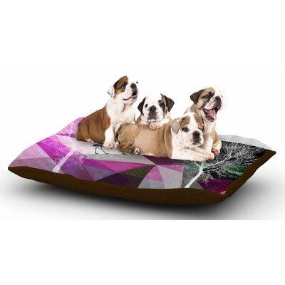 Pia Schneider Flamingo P22 Geometric Dog Pillow with Fleece Cozy Top