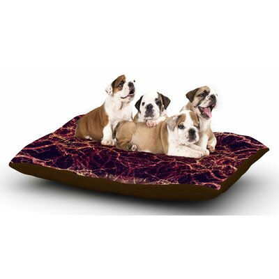 Pia Schneider Burning Roots I+VIII Abstract Dog Pillow with Fleece Cozy Top
