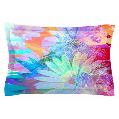 AlyZen Moonshadow Floral Meld Abstract Digital Sham Size: Queen