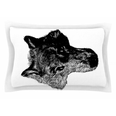 BarmalisiRTB Black Head Coyote Digital Sham Size: Queen