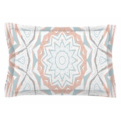Alison Coxon Plant House Mandala Digital Sham Color: Blue/Beige, Size: King