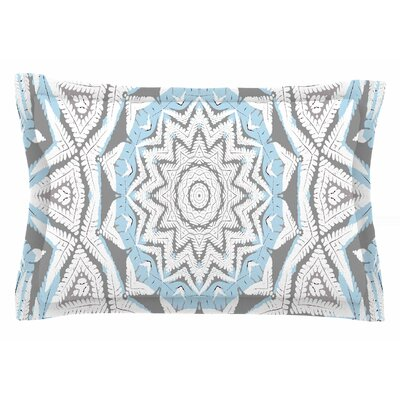 Alison Coxon Plant House Mandala Digital Sham Size: King, Color: Coral/Blue
