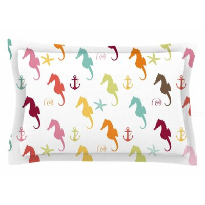 Afe Images Colorful Seahorse Illustration Sham Size: King
