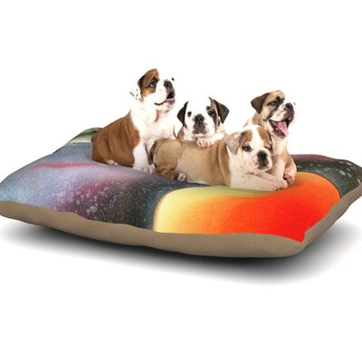 Infinite Spray Art Alignment Dog Pillow with Fleece Cozy Top