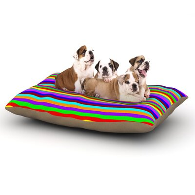 Trebam Bombon Stripes Dog Pillow with Fleece Cozy Top Size: Small (40 W x 30 D x 8 H)