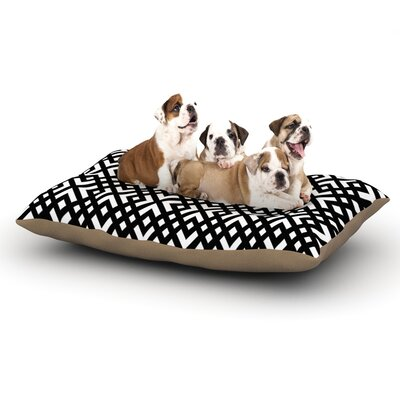 Trebam Dijagonala Geometric Dog Pillow with Fleece Cozy Top Size: Small (40 W x 30 D x 8 H)