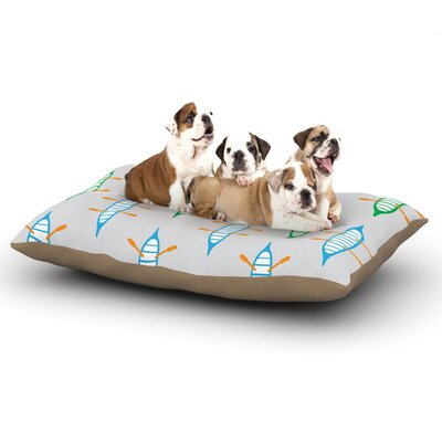 Yenty Jap Sail Away Dog Pillow with Fleece Cozy Top Size: Large (50 W x 40 D x 8 H)