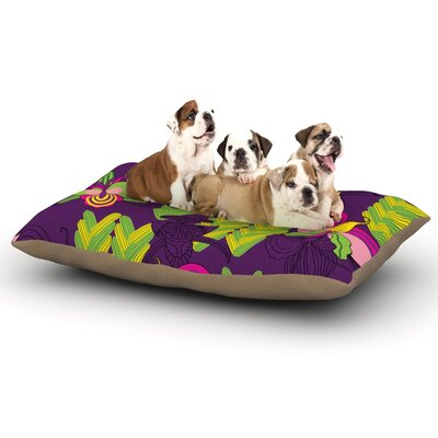 Yenty Jap Orchids Festival Dog Pillow with Fleece Cozy Top Size: Small (40 W x 30 D x 8 H)