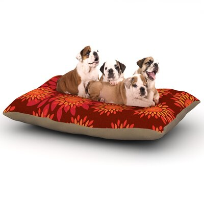 Yenty Jap Sunflower Season Dog Pillow with Fleece Cozy Top Size: Large (50 W x 40 D x 8 H)