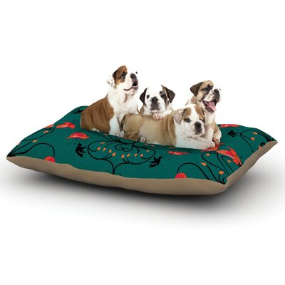 Yenty Jap Hummingbird Dog Pillow with Fleece Cozy Top Size: Large (50 W x 40 D x 8 H)