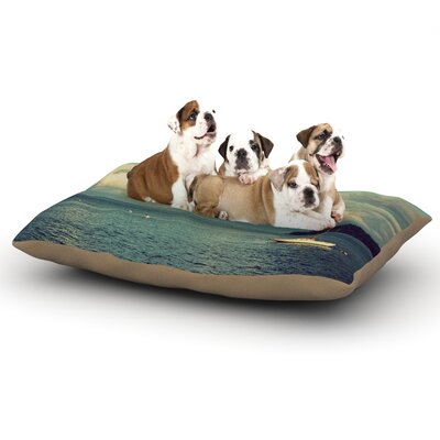 Robin Dickinson Must Sea Ocean Dog Pillow with Fleece Cozy Top Size: Small (40 W x 30 D x 8 H)