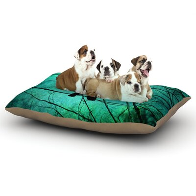 Robin Dickinson Smitten Dog Pillow with Fleece Cozy Top Size: Large (50 W x 40 D x 8 H)