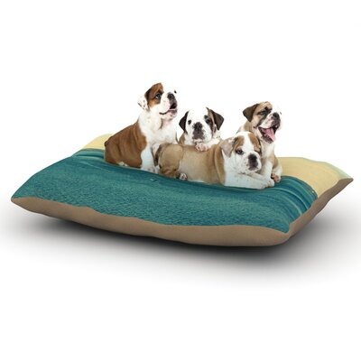 Robin Dickinson Row Your Own Boat Ocean Dog Pillow with Fleece Cozy Top Size: Small (40 W x 30 D x 8 H)