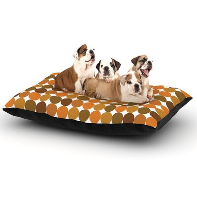 Noblefur Dots Dog Pillow with Fleece Cozy Top Size: Small (40 W x 30 D x 8 H), Color: Orange