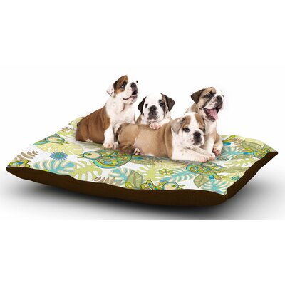 Julia Grifol Summer Birds Dog Pillow with Fleece Cozy Top
