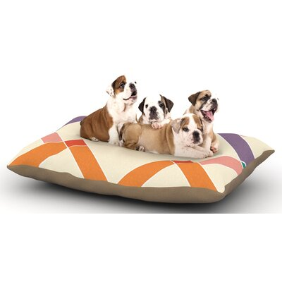 KESS Original Samson Colorful Geometry Dog Pillow with Fleece Cozy Top