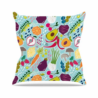 Agnes Schugardt Garden Song Food Outdoor Throw Pillow Size: 18 H x 18 W x 5 D