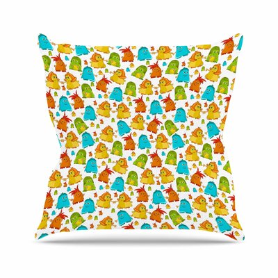 Alisa Drukman Good Monsters Kids Outdoor Throw Pillow Size: 16 H x 16 W x 5 D