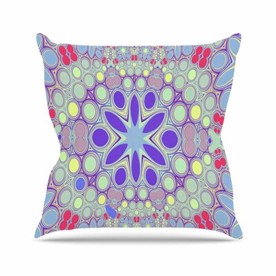 Alison Coxon Hippy Flowers Kaleidoscope Outdoor Throw Pillow Size: 16 H x 16 W x 5 D