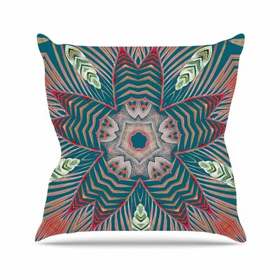 Alison Coxon Kintenge Deep Outdoor Throw Pillow Size: 18 H x 18 W x 5 D, Color: Teal/Coral
