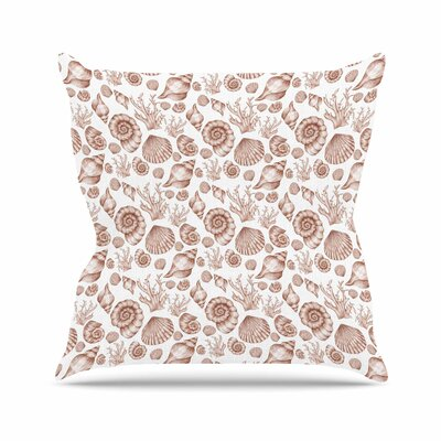 Alisa Drukman Seashells Nature Outdoor Throw Pillow Size: 18 H x 18 W x 5 D