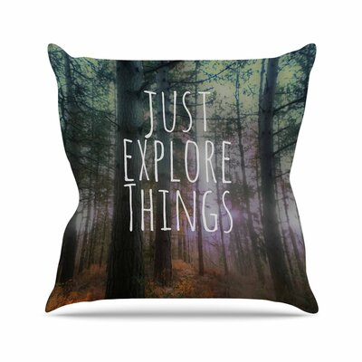 Alison Coxon Just Explore Things Photography Outdoor Throw Pillow Size: 16 H x 16 W x 5 D