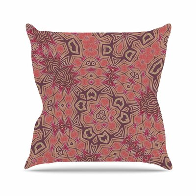 Alison Coxon Tribal Fire Digital Outdoor Throw Pillow Size: 18 H x 18 W x 5 D, Color: Red