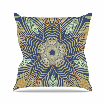 Alison Coxon Kintenge Deep Outdoor Throw Pillow Size: 18 H x 18 W x 5 D, Color: Blue/Orange