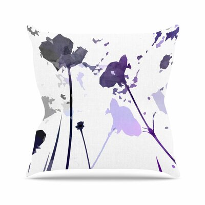 Alison Coxon Poppies Indigo Outdoor Throw Pillow Size: 18 H x 18 W x 5 D