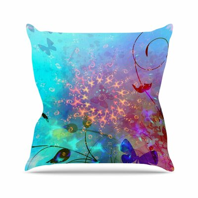 AlyZen Moonshadow Illusion Outdoor Throw Pillow Size: 18 H x 18 W x 5 D