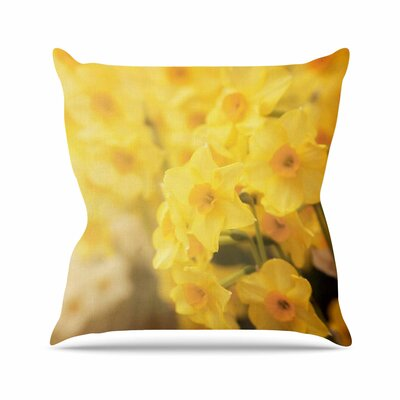 Angie Turner Dreamy Daffodils Nature Outdoor Throw Pillow Size: 18 H x 18 W x 5 D