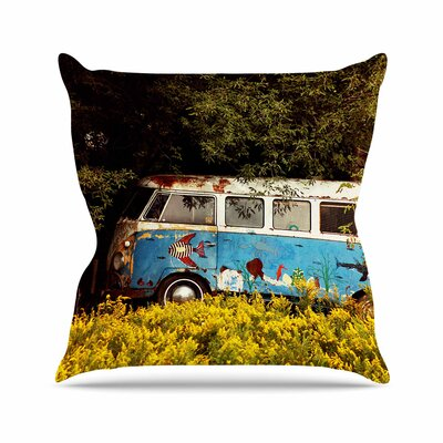 Angie Turner Hippie Bus Outdoor Throw Pillow Size: 16 H x 16 W x 5 D