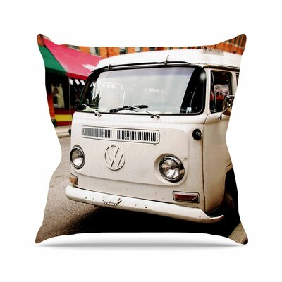 Angie Turner VW Bus Vintage Outdoor Throw Pillow Size: 18 H x 18 W x 5 D