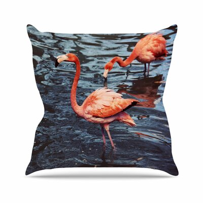 Angie Turner Flamingo Wildlife Outdoor Throw Pillow Size: 18 H x 18 W x 5 D