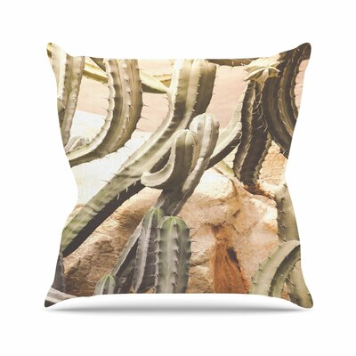 Ann Barnes Cactus Jungle Outdoor Throw Pillow Size: 16 H x 16 W x 5 D