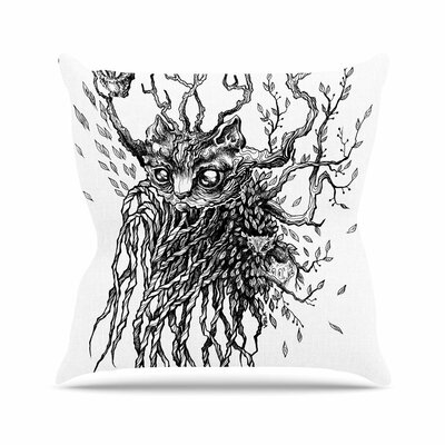 Anya Volk Forest Spirit Nature Outdoor Throw Pillow Size: 16 H x 16 W x 5 D