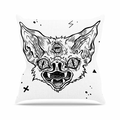 Anya Volk Its Bat Outdoor Throw Pillow Size: 18 H x 18 W x 5 D