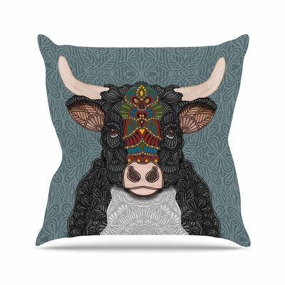 Art Love Passion Steve the Bull Outdoor Throw Pillow Size: 18 H x 18 W x 5 D
