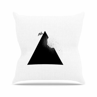 BarmalisiRTB Apple Pyramid Outdoor Throw Pillow Size: 16 H x 16 W x 5 D