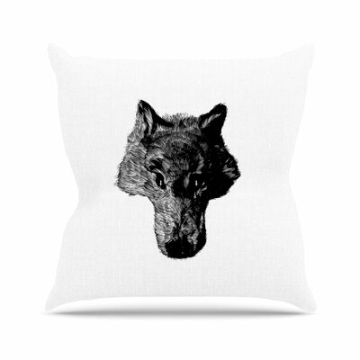 BarmalisiRTB Coyote Outdoor Throw Pillow Size: 16 H x 16 W x 5 D