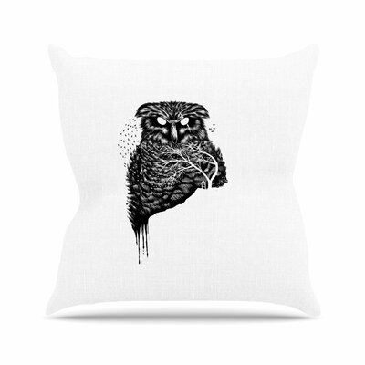 BarmalisiRTB Autumn Owl Outdoor Throw Pillow Size: 18 H x 18 W x 5 D