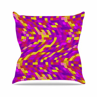 Geometric Movement Tags Outdoor Throw Pillow