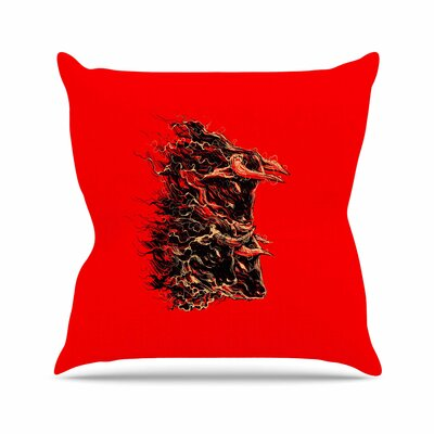 BarmalisiRTB Bull Abstract Outdoor Throw Pillow Size: 16 H x 16 W x 5 D