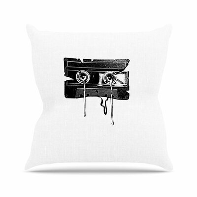 BarmalisiRTB Cassette Memories Outdoor Throw Pillow Size: 16 H x 16 W x 5 D