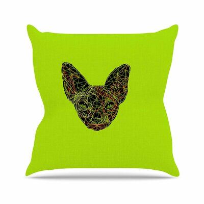 BarmalisiRTB Geometry Sphynx Animals Outdoor Throw Pillow Size: 16 H x 16 W x 5 D
