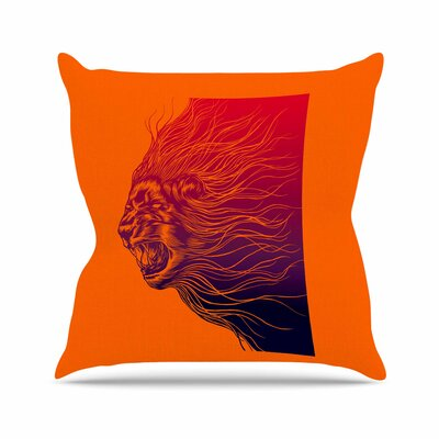 BarmalisiRTB Furious WildlifeOutdoor Throw Pillow Size: 18 H x 18 W x 5 D