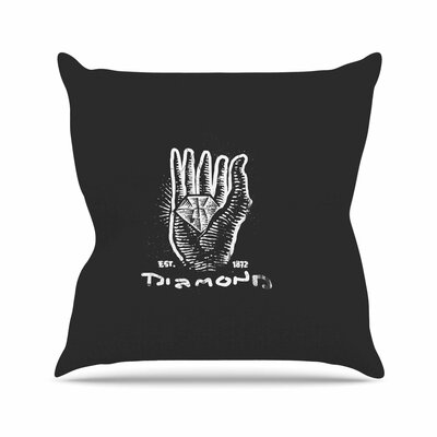 BarmalisiRTB Diamond Hand Outdoor Throw Pillow Size: 16 H x 16 W x 5 D