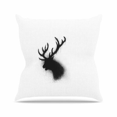 BarmalisiRTB Deer Outdoor Throw Pillow Size: 16 H x 16 W x 5 D