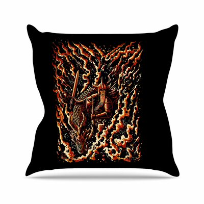 BarmalisiRTB Defense Abstract Outdoor Throw Pillow Size: 16 H x 16 W x 5 D