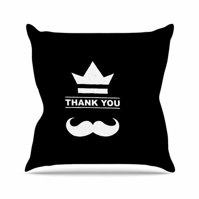BarmalisiRTB Thank You Outdoor Throw Pillow Size: 16 H x 16 W x 5 D
